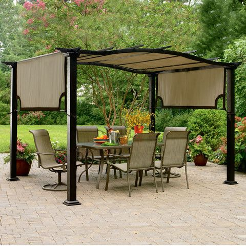 This pergola replacement canopy fits the Garden Oasis / Essential Garden  Curved Pergola S-PG11D1 - This Pergola Replacement Canopy Fits The Garden Oasis / Essential