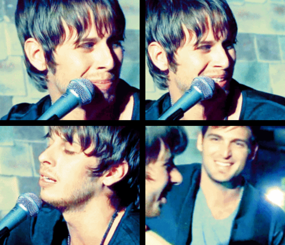 Mark Foster & Cubbie being adorable Foster The People