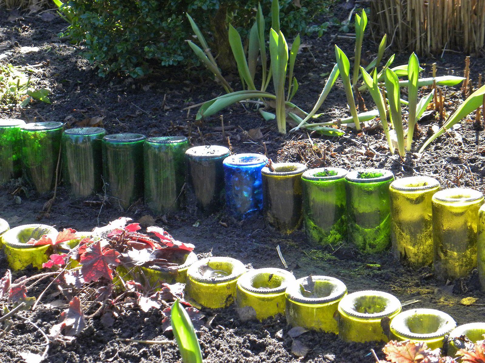 Beetkanten aus weinflaschen gartenplanung gartenberatung in hamburg - Gartenplanung hamburg ...
