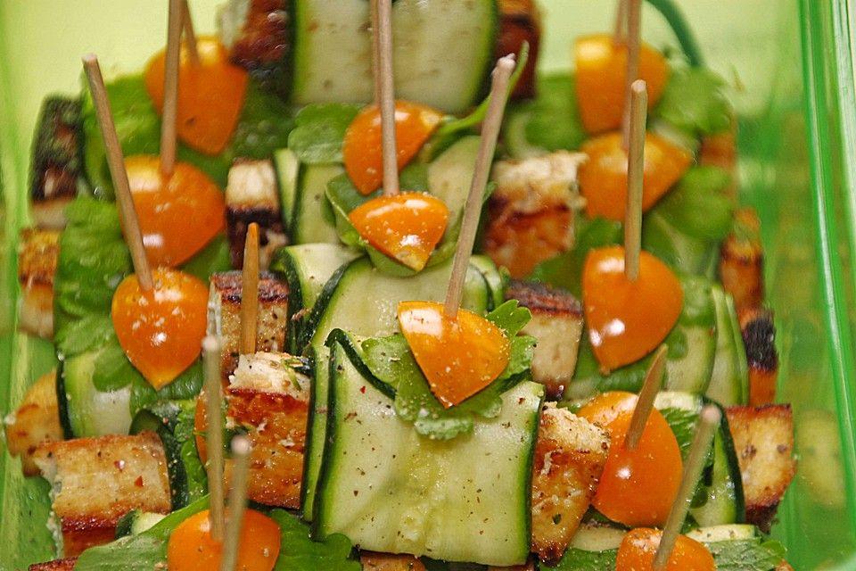 Zucchiniröllchen mit Hühnerbrust
