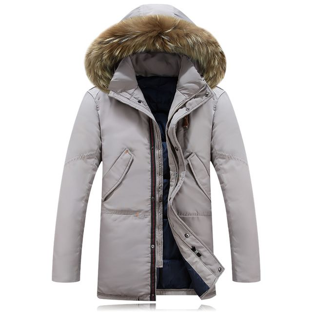 5ed7ee4d9dc Winter Jacket Men 90% White Duck Down Long Jackets Keep Warm Coat Casual  Mens thick Down Overcoat Outwear parka