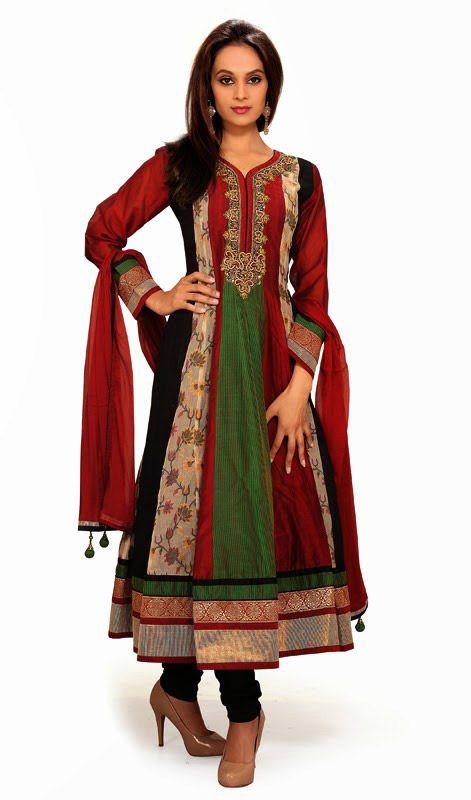 44037c6e2f Multicolor Chanderi Cotton Silk Long Anarkali Suit Unravel a plethora of  timeless beauty draped in this multicolor chanderi cotton silk long  Anarkali suit.