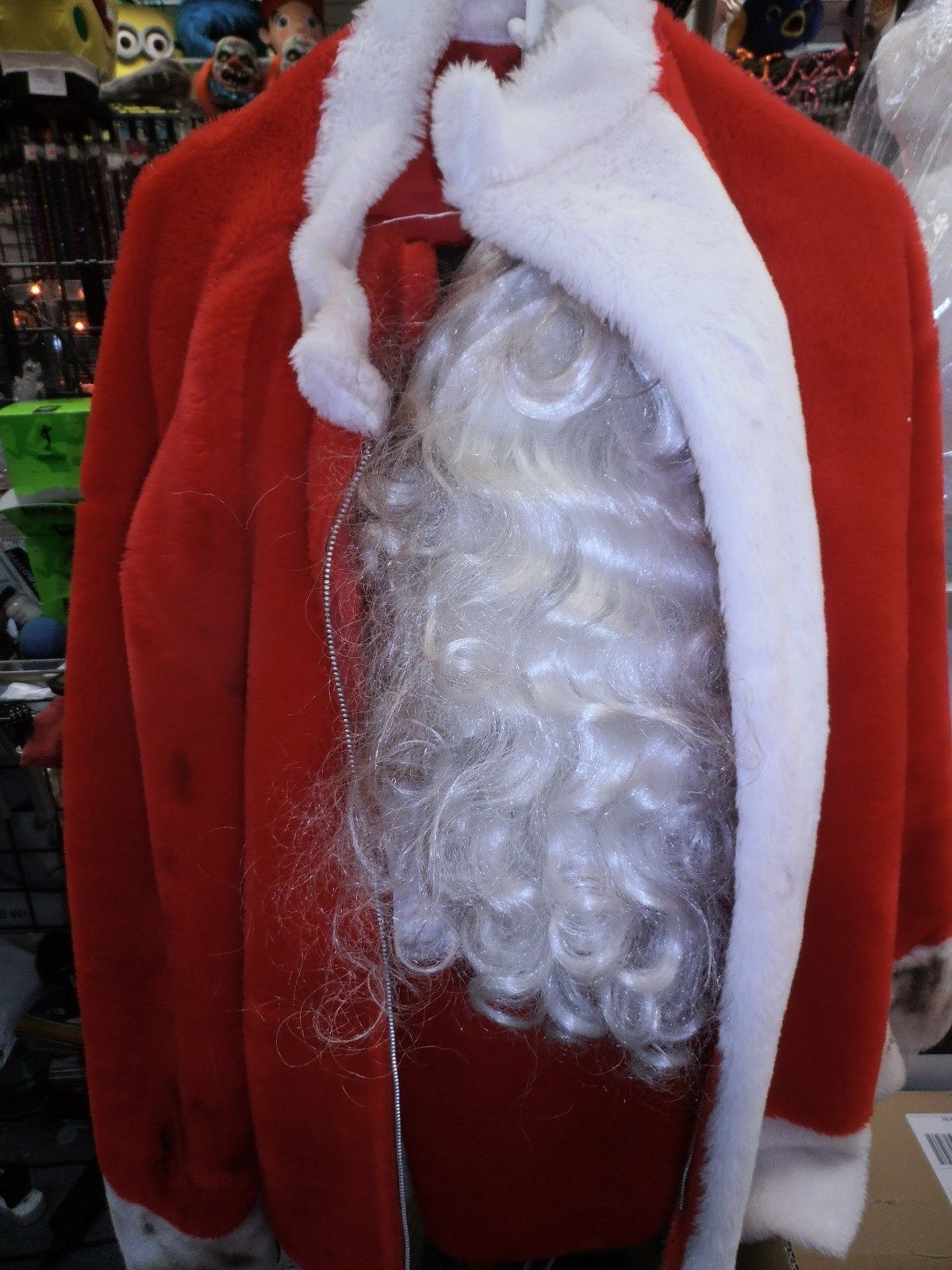 Bad Santa Suit Costume Outfit Santa Claus Halloween First Place Winner Large Halloween Skeletons Skull Decor Santa Suits