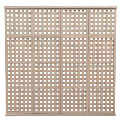 78.5 in. x 77.5 in. 4 High Privacy Lattice Panel-DISCONTINUED