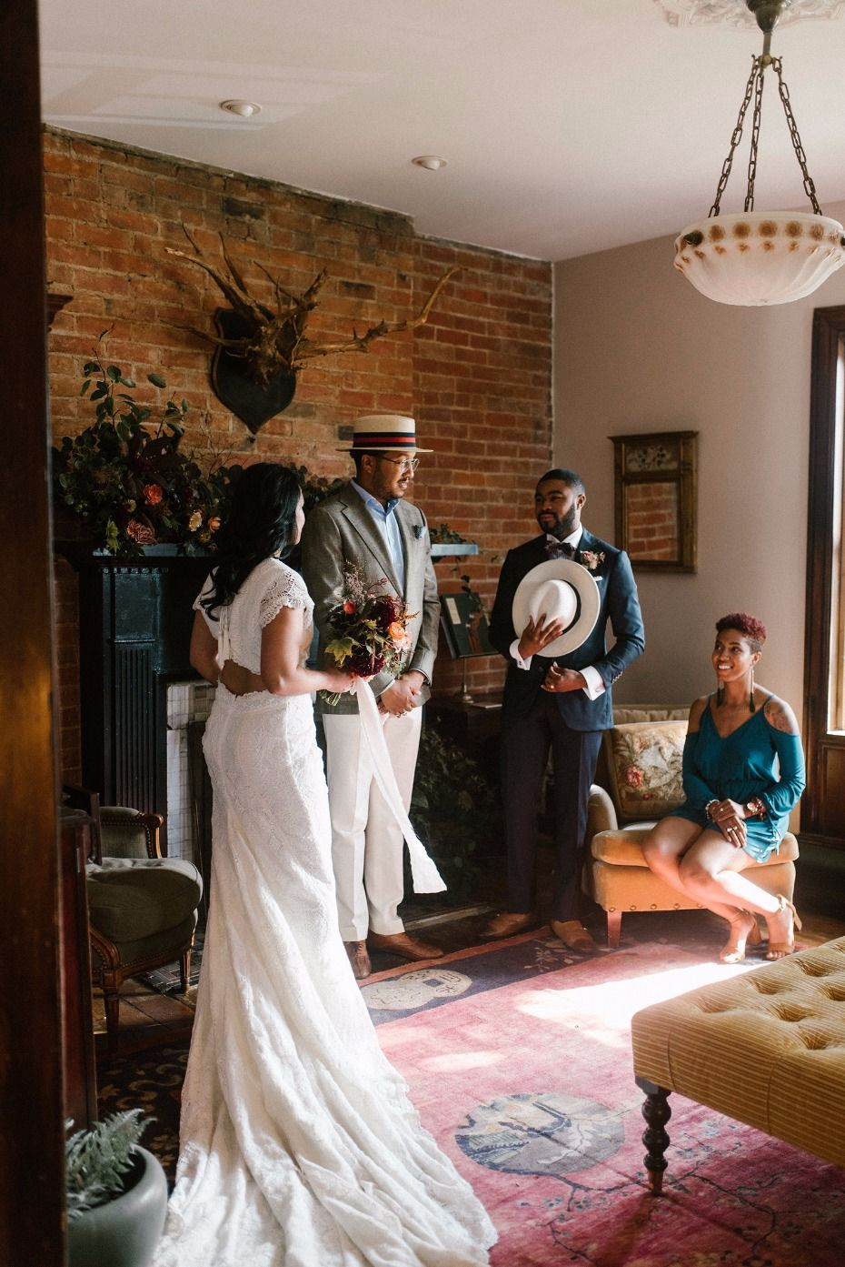 How To Have A Cozy Beautiful At Home Elopement Wedding Reception