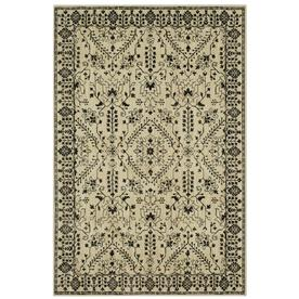 Mohawk Home Estelle Oyster Rectangular Indoor Machine Made Farmhouse Cottage Area Rug Common 5 X 8 Actual Area Rugs Quality Area Rugs