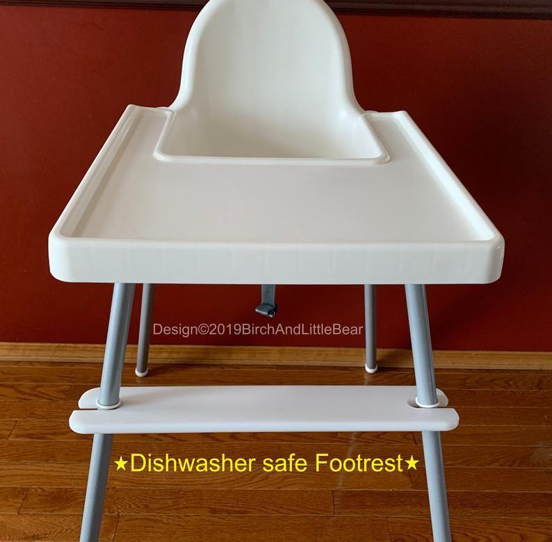 Dishwasher safe ikea high chair footrest adjustable