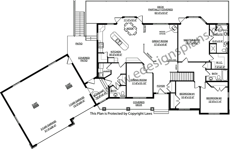 Bungalow Plan 2011585 With Angled Garage By E Designs Bungalow House Plans House Plans New House Plans