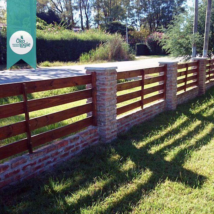 Cerco de madera tratada preservada uruguay trabajos for Disenos de casas rusticas de ladrillo