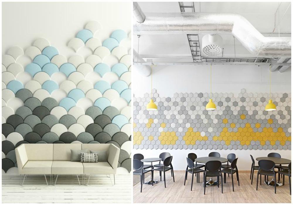Forrar una pared de madera Paneles acústicos, Panel y Decoracion