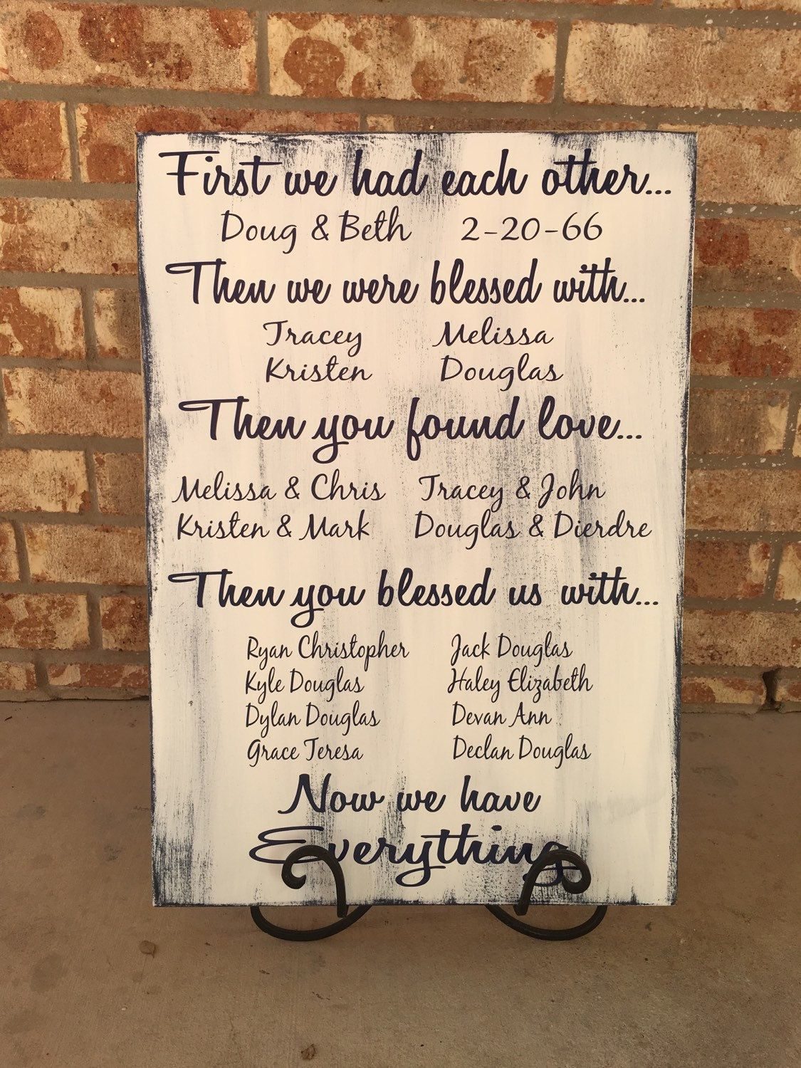 First We Had Each Other Gift Ideas Anniversary Gifts 50th