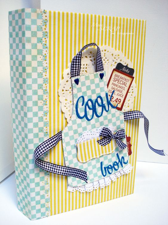 Homemade Recipe Book Cover Ideas ~ Cookbook tutorial cocina patchwork pinterest