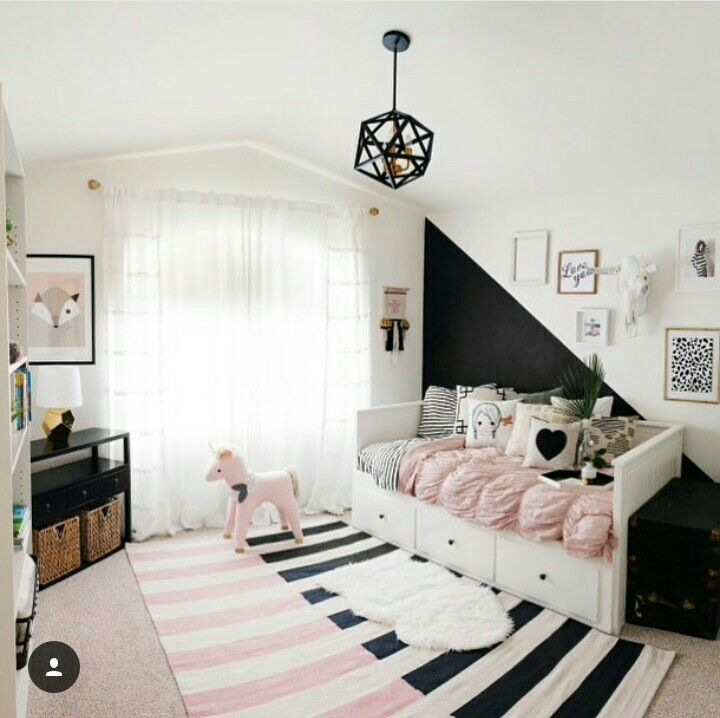 Pink Black Pink Black Room Pink Girl Room Pink Toddler Rooms