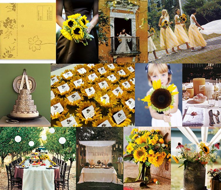 A Sunflower Theme Rustic Wedding Chic