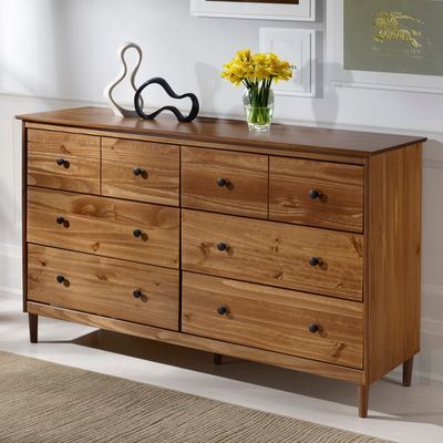 Best Traditional Caramel Wooden 6 Drawer Dresser Solid Wood 400 x 300