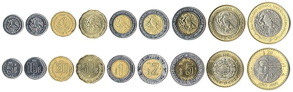 Mexican Pesos Coins Peso