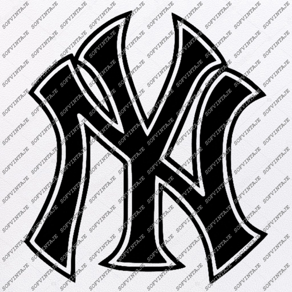 Yankees Baseball Svg File Baseball Svg New York Yankees Logo Vector Graphics Svg For Cricut Svg For Silhouette Svg Eps Pdf Dxf