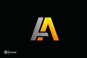 Aa Letter Logo Letter Logo Logos Lettering