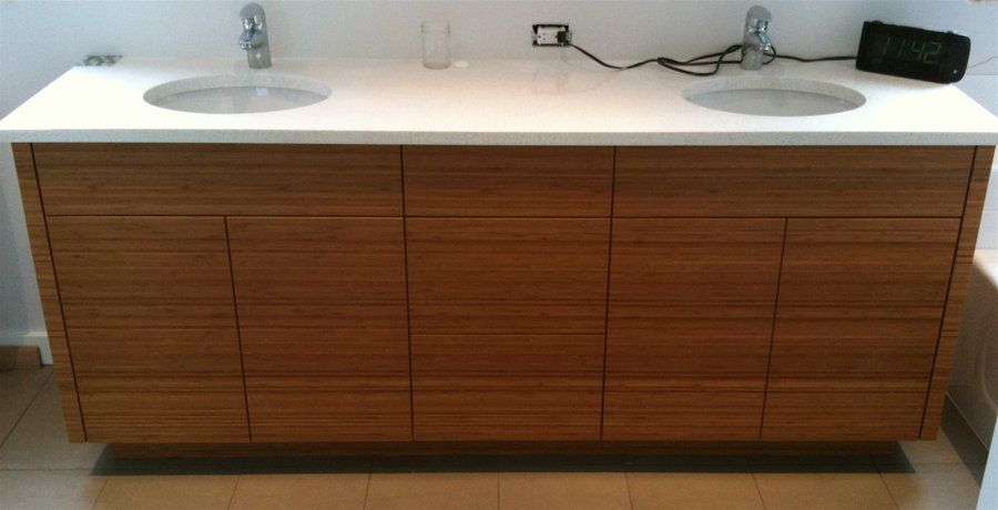 bamboo bathroom vanities