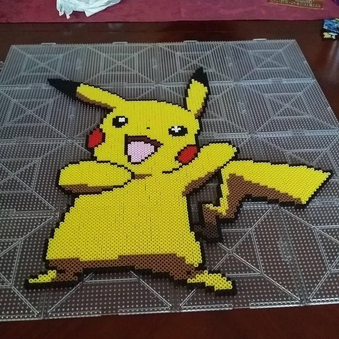 Pikachu perler beads by pixelperlerart