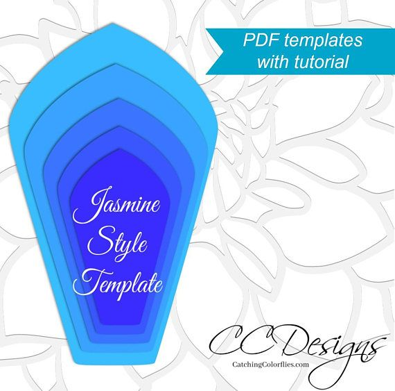 Printable Giant Paper Flower Templates Large Paper Flower Patterns