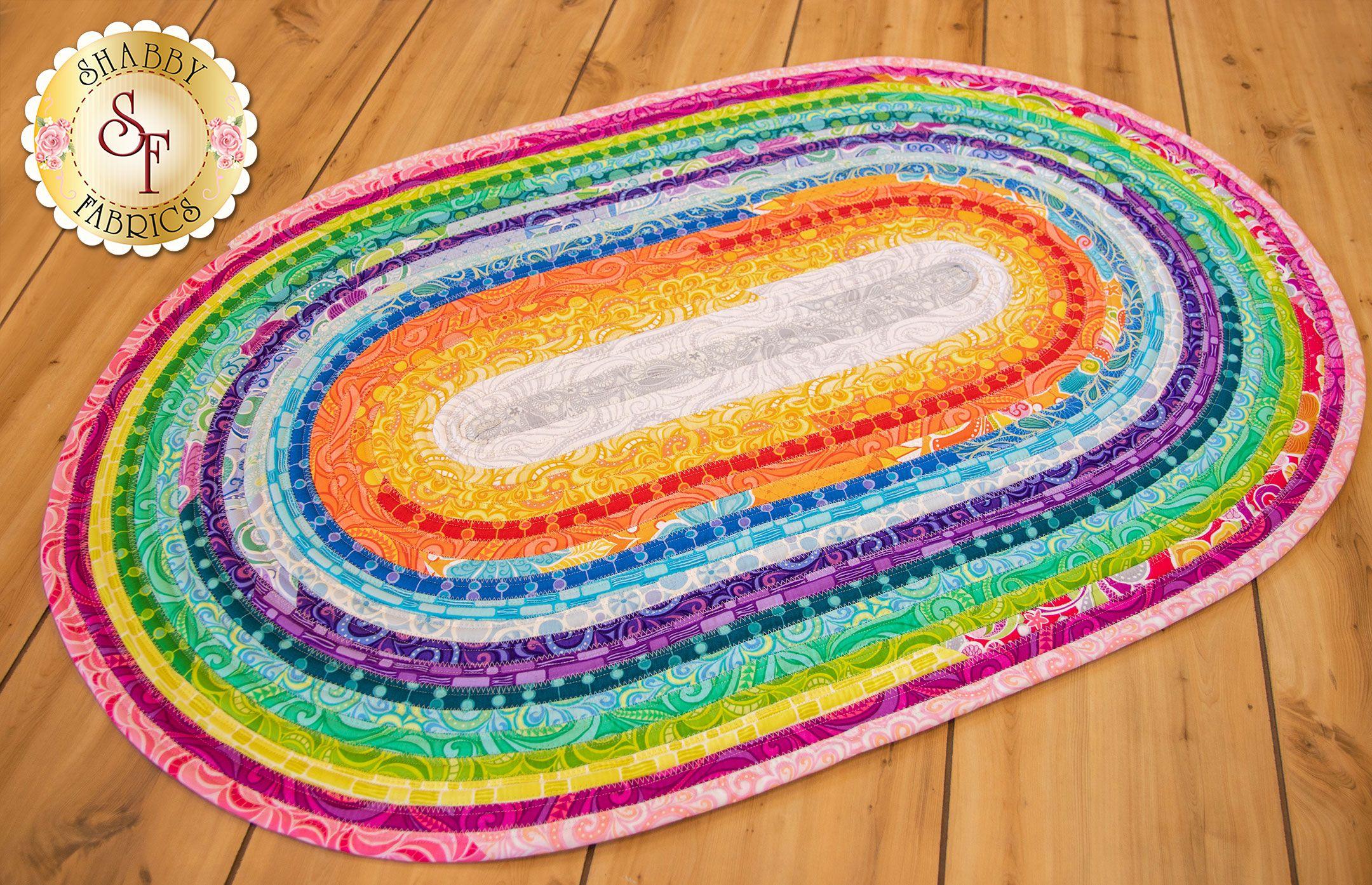 Rainbow Jelly Roll Rug