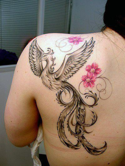 Tatuaże Damskie Phoenix Na Plecy Tattoos Tatuaże Z