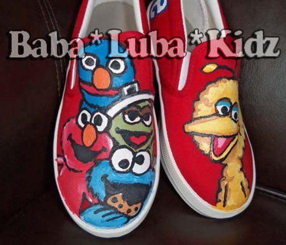1e92b2bd6dfce BOYS OR GIRLS Let me paint your canvas shoes - Boutique custom ...