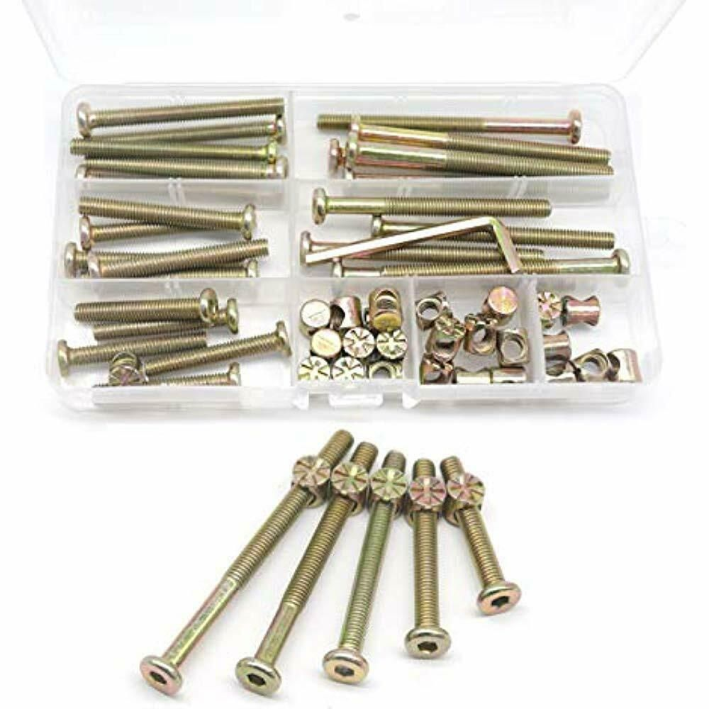 Baby Bed Crib Screws Hardware Replacement Kit Cseao 25 Set M6x40mm 50mm 60mm Cseao In 2020 Headboards For Beds Baby Bed New Baby Products
