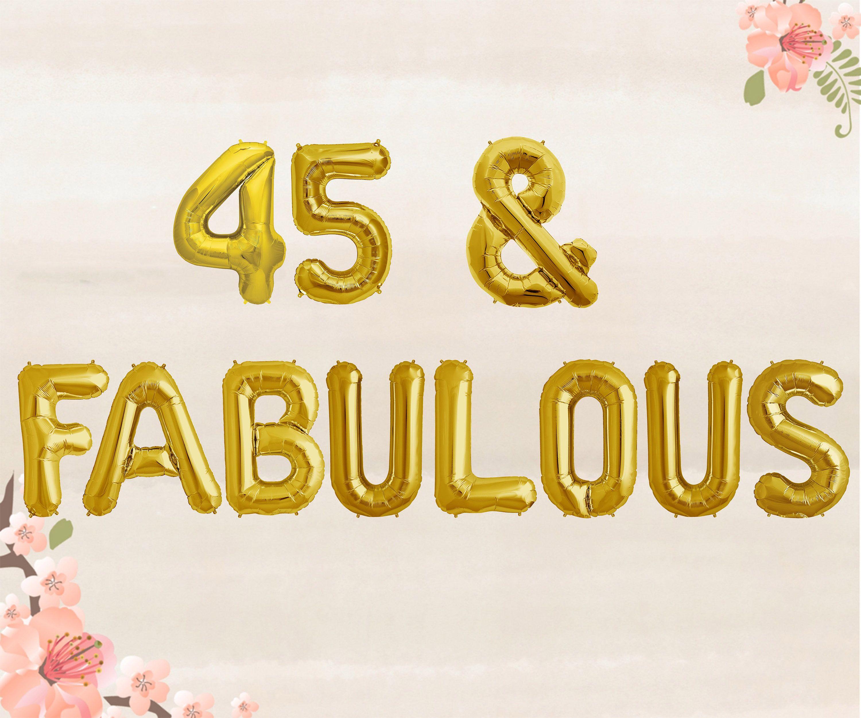 45 Amp Fabulous Balloons