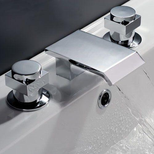 Willis Widespread Waterfall Faucet Bathroom Sink Faucets Bathroom | Oil  Rubbed Bronze Waterfall Bathroom Faucet ...