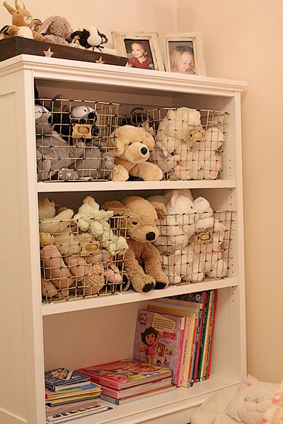 Marvelous Stuffed Toy Storage   Love The Wire Baskets Images
