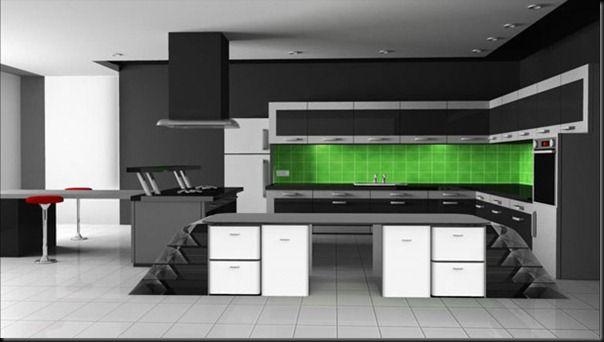 Future Technology Concept New Technology Food Preparation 2050 Kitchen Interior Design Modern Modern Kitchen Interiors Modern Kitchen Tile Floor
