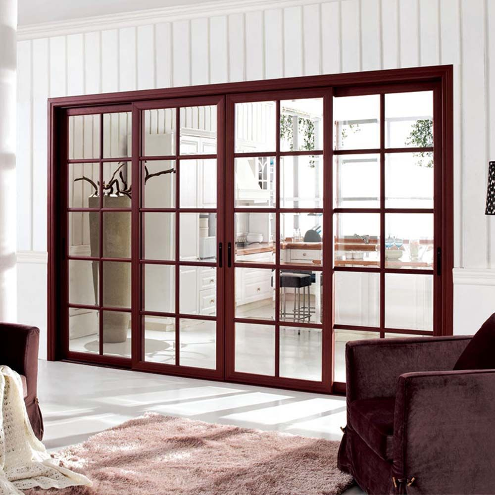 Muropen Aluminum Sliding Door With Grill Design For Bedroom Living Room Balcony Grill Door Design Aluminium Sliding Doors Automatic Sliding Doors Bedroom aluminum sliding door