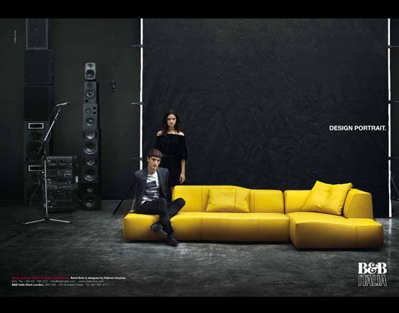 Yummy yellow sofa for B et b italia
