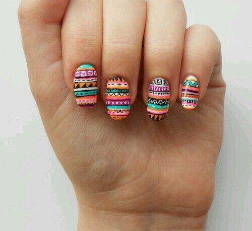 #Aztec #nails