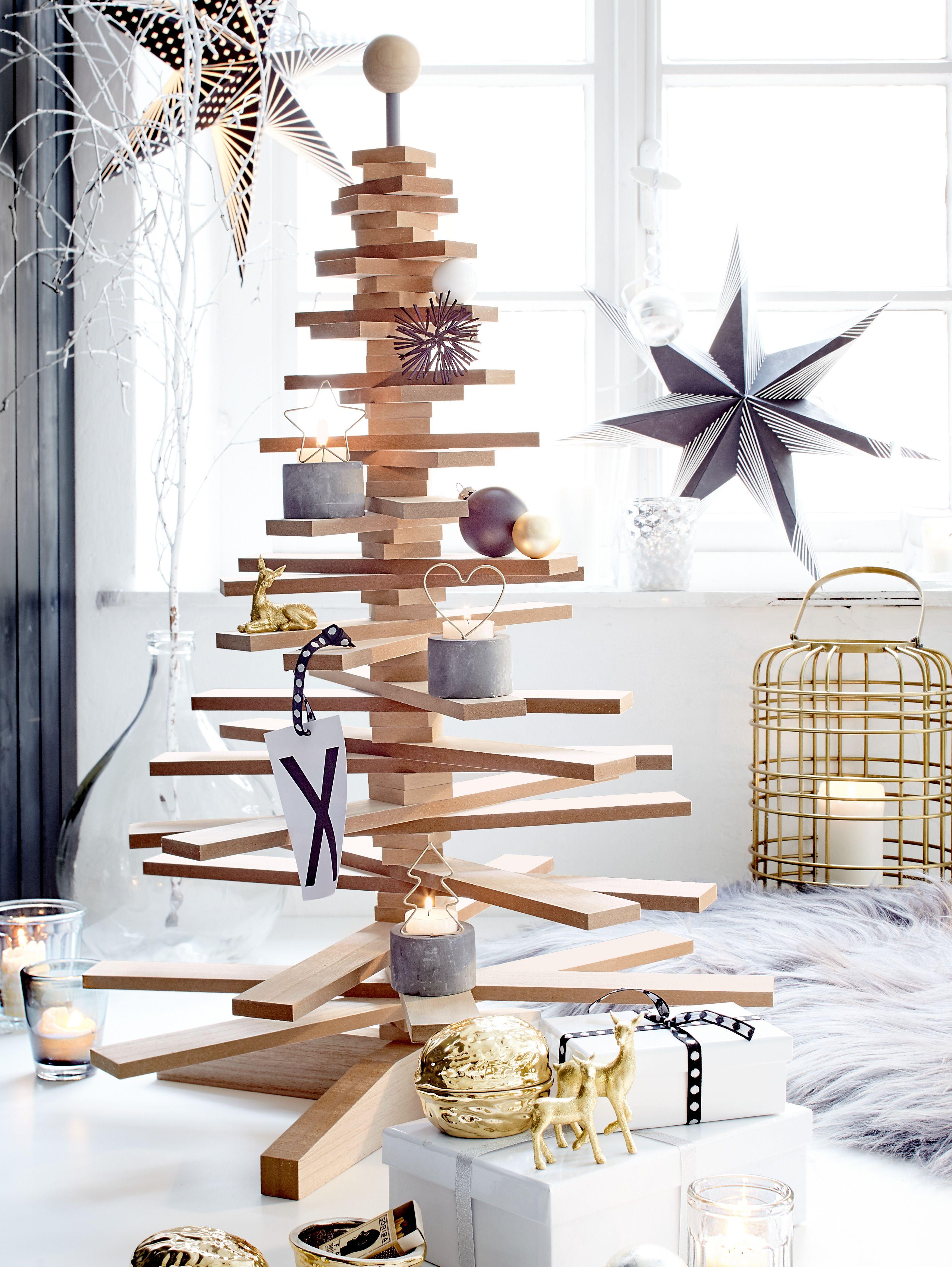 holzbaum dekoobjekt weihnachtsbaum aus holz dekoartikel. Black Bedroom Furniture Sets. Home Design Ideas