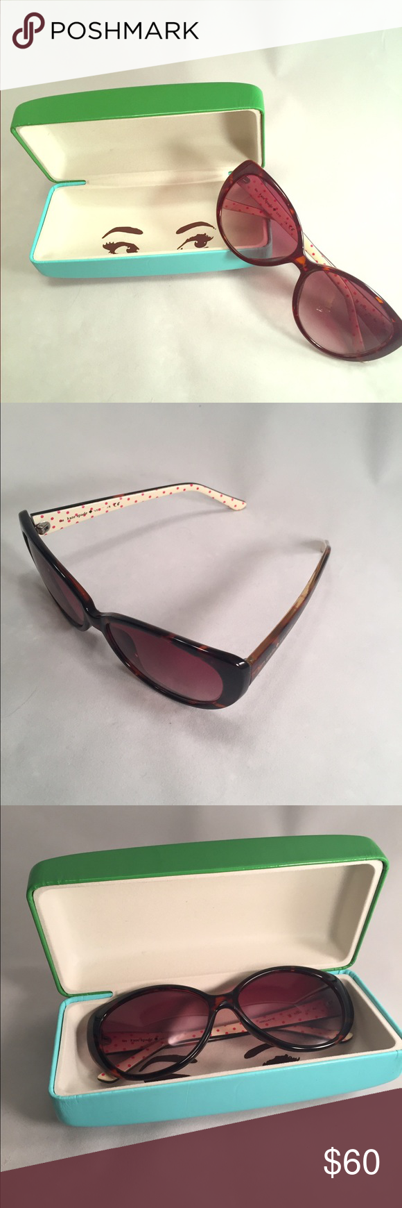 Kate Spade ♠️ Adella Tortoise Polka Dot Sunglasses Hardly worn just too small for my face. Retails for $125. Please make an offer! kate spade Accessories Sunglasses