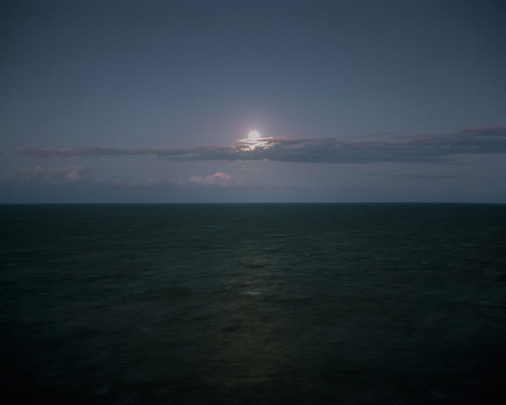 Moonrise over the Coral Sea, QLD