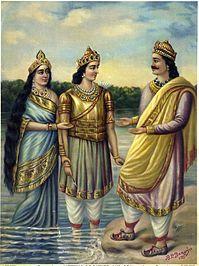 Ganga putra, Devavrata, reunited with his father Shantanu