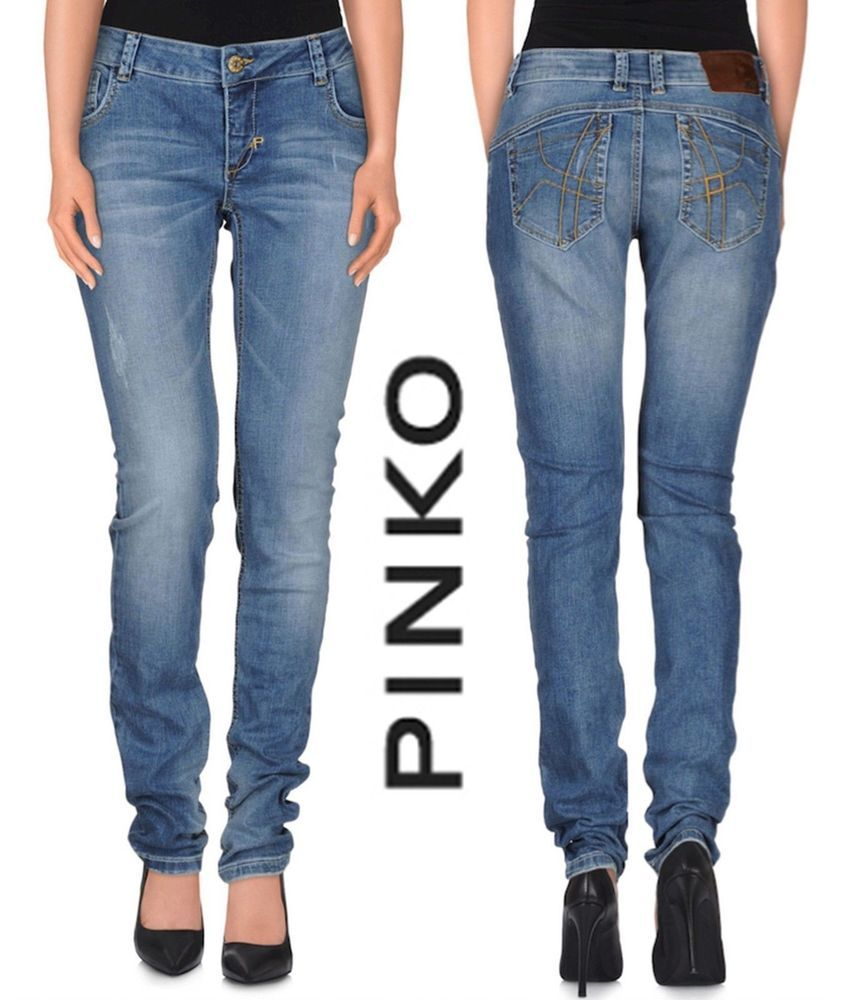f9db762803f NWT $285 PINKO MADE IN ITALY PREMIUM LOW RISE SLIM JEANS. SIZE 26 #Pinko  #SlimSkinny