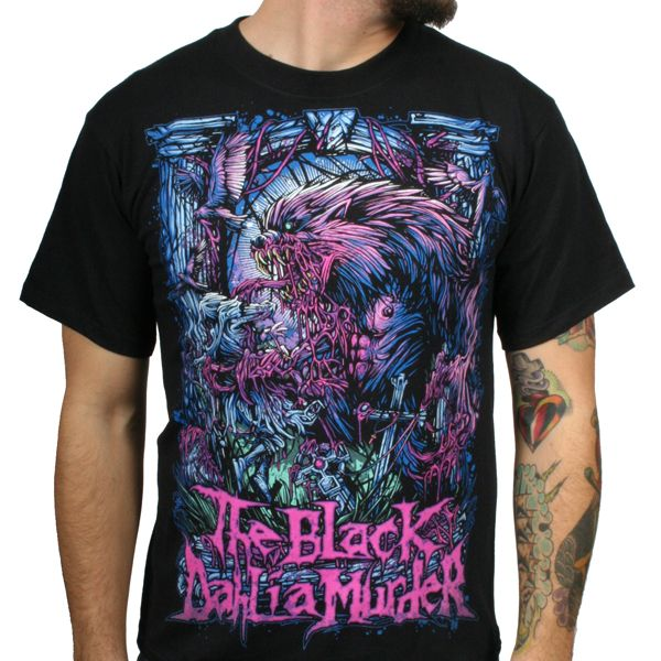 Brock's art always reminds me of The Black Dahlia Murder's tee shirt designs... like this one