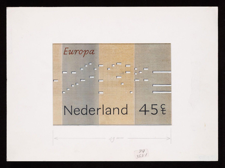Gielijn Escher, Niet uitgevoerd ontwerp voor de Europapostzegels Nederland 1985