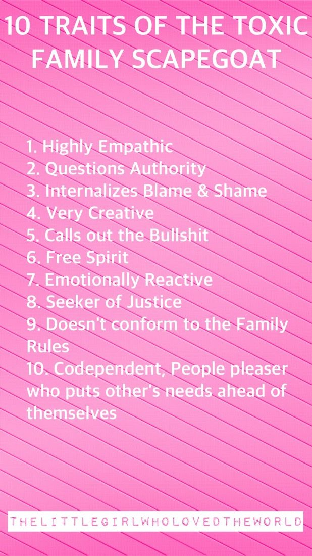 10 Traits of the Toxic Family Scapegoat | Narcissist Abuse Community