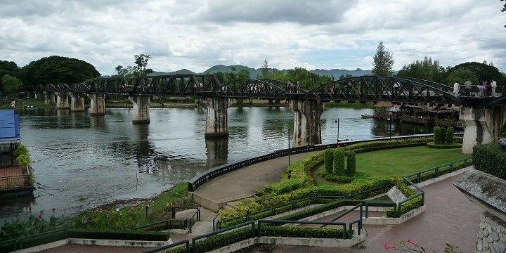 River Kwai Bridge, Kanchanaburi, Central Thailand, Asia