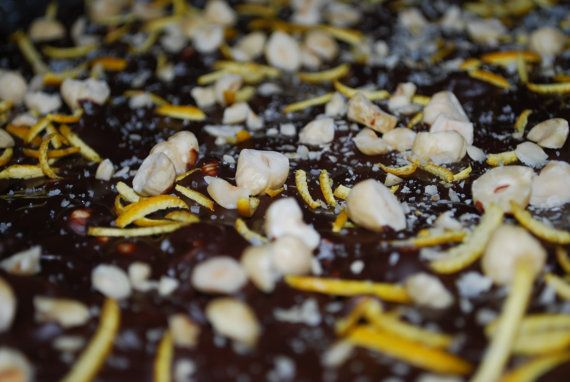 Gourmet Dark Chocolate, Organic Orange and Hazelnut Bark – 6 oz.