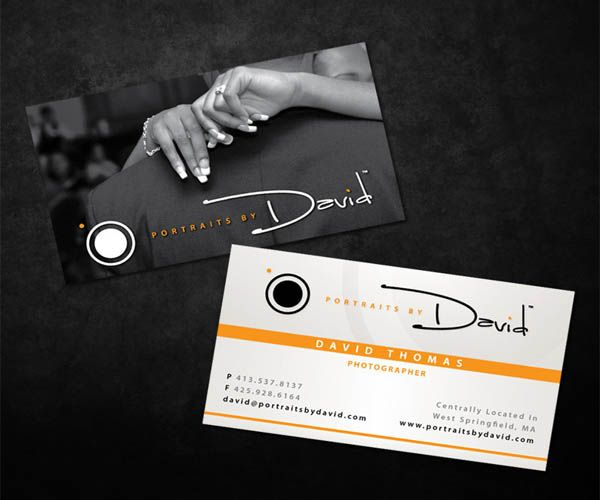 David Thomas Photographer Business Card Design Business Cards - Photography business card template