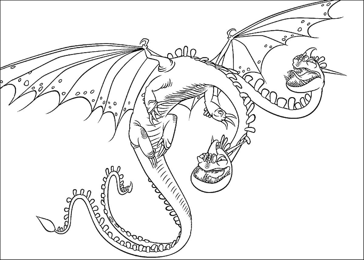 Deadly Nadder Coloring Page