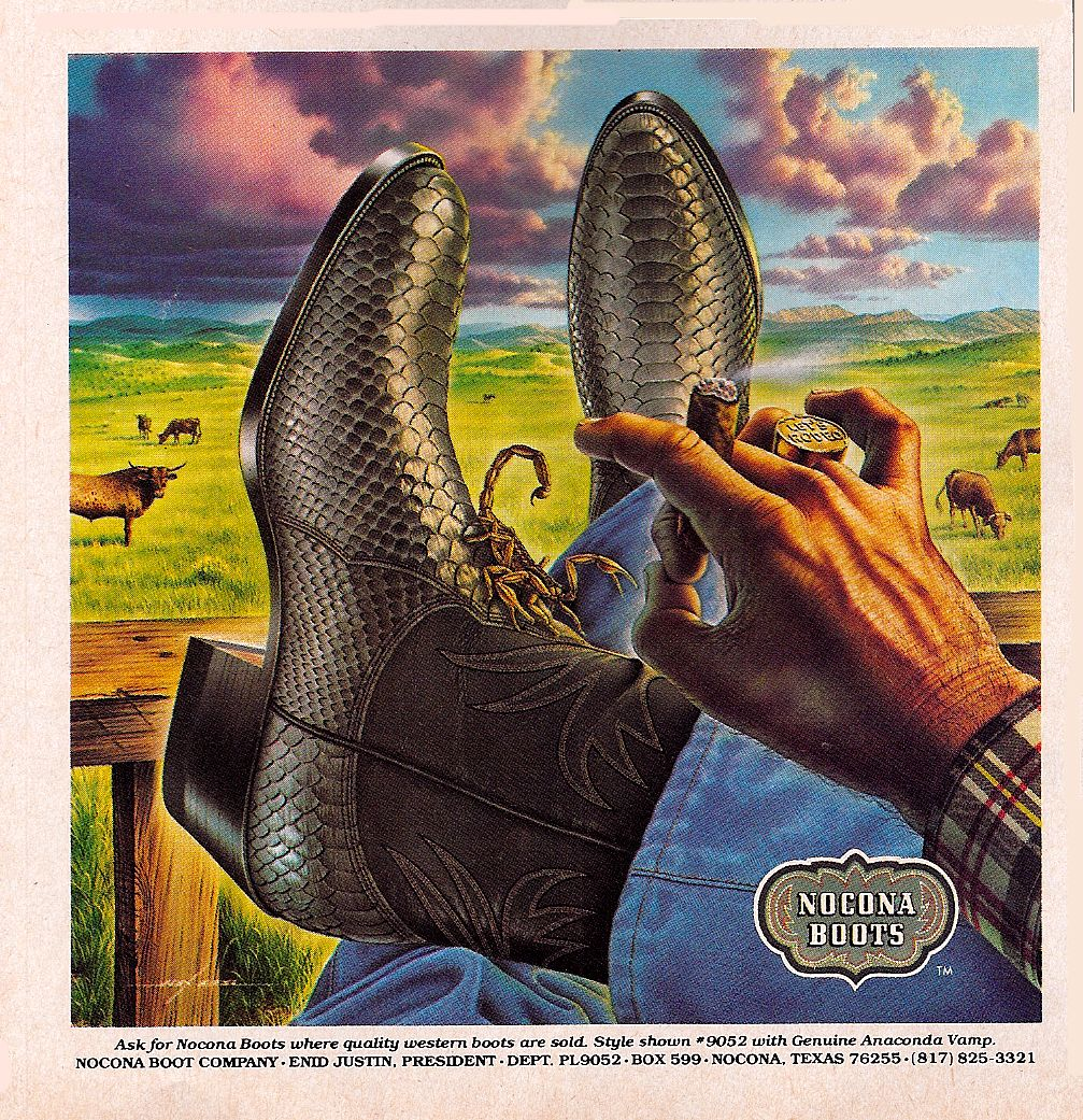 Ides Of Lj Scorpion Flickin Boots Advertisements