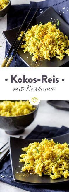 Photo of Schneller Kokosreis mit Kurkuma